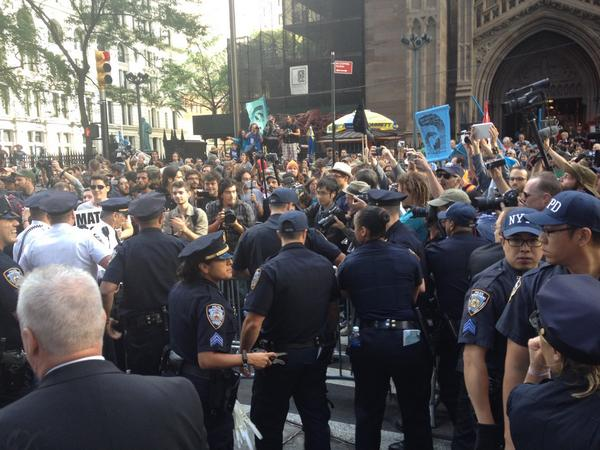 NYPD Adopts Less Confrontational Posture at Climate Protests