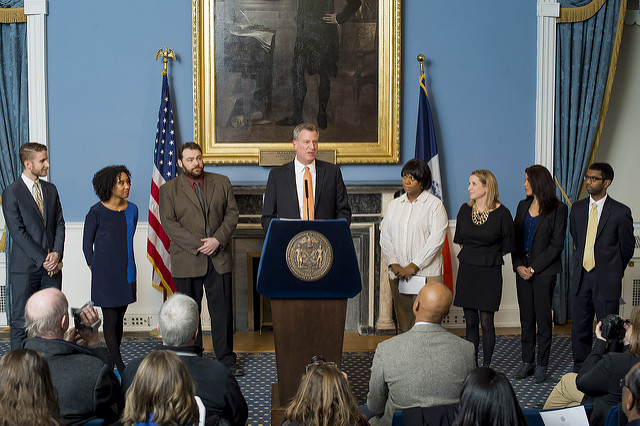 de blasio walzak comms team 2014
