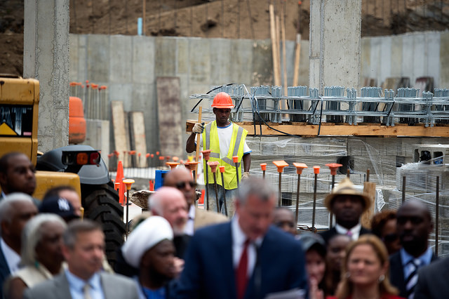 worker background de blasio