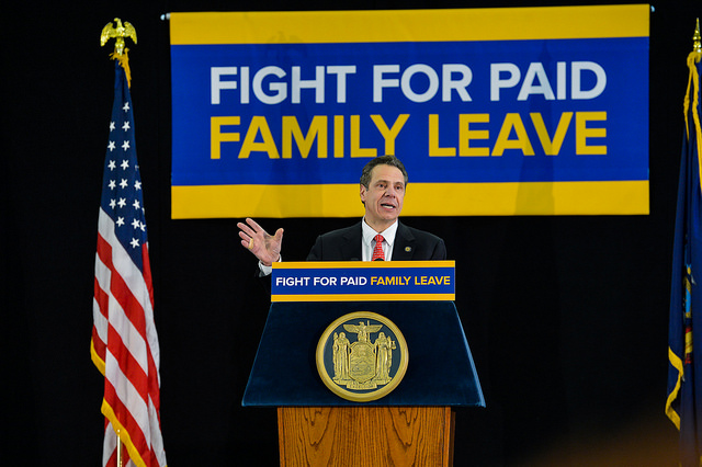 cuomo paid family leave motion