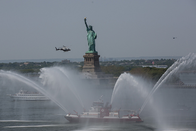 statue of liberty water