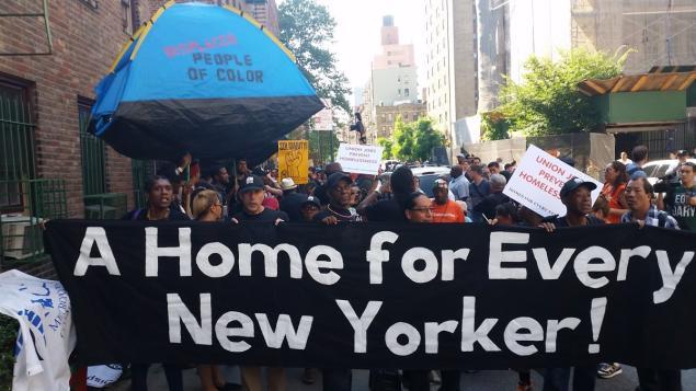 vocal homelessness protest - matt curtis vocal ny