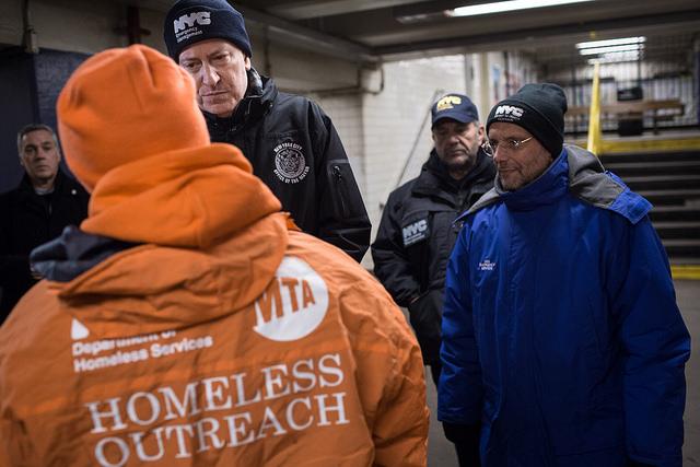 de Blasio Banks homelessness