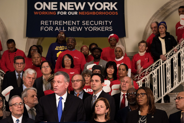 de Blasio retirement savings
