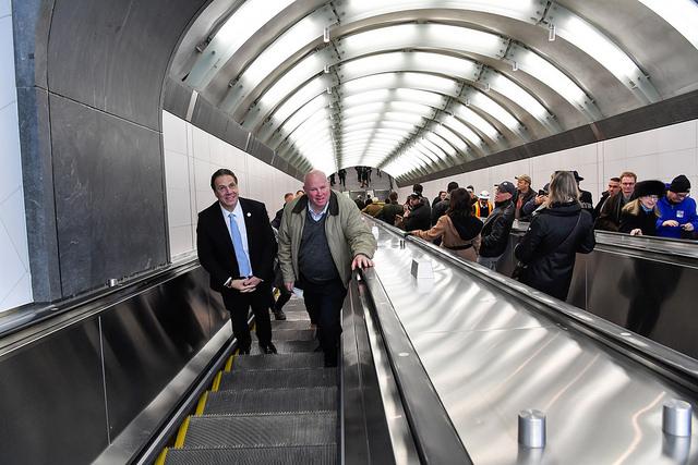Cuomo MTA subway escalator