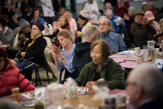 seniors during de blasio visit