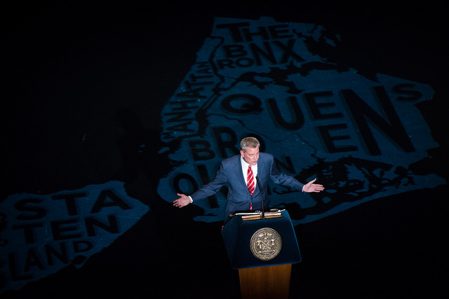 de blasio state of the city aerial