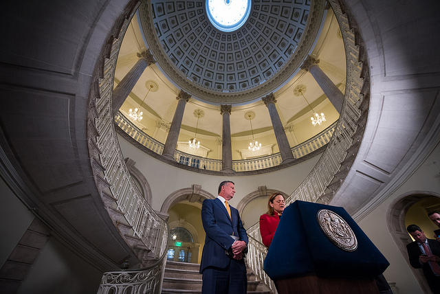 de Blasio city hall rotunda