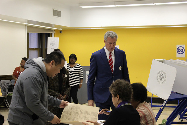 Mayor de Blasio 2017 election voting