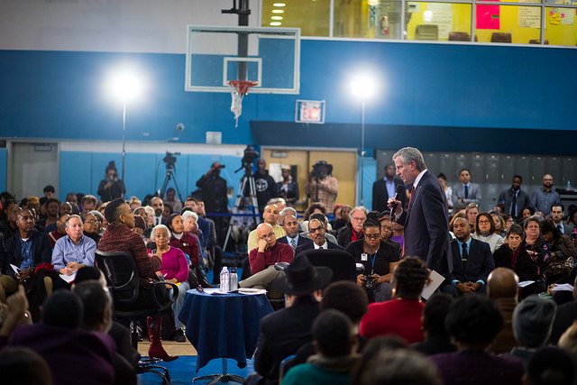 Mayor de Blasio town hall Cumbo