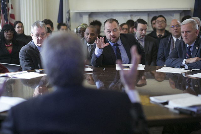 Corey Johnson Mayor de Blasio budget briefing