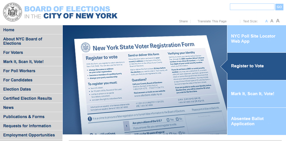 Board of Elections To Roll Out 'Electronically Assisted' Voter Registration