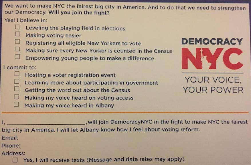 democracynyc postcard