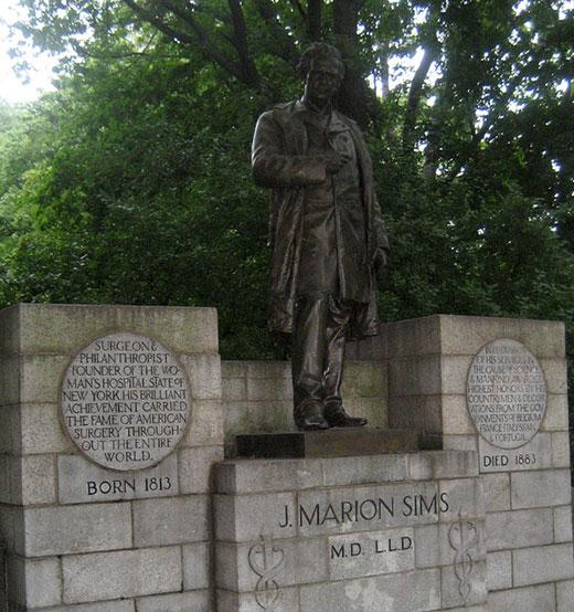 dr j marion sims statue 2