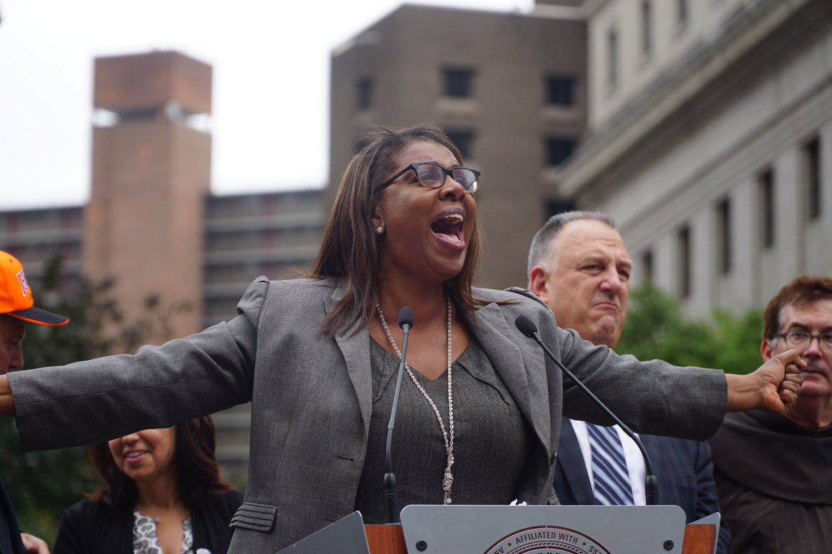 letitia james via teamsters