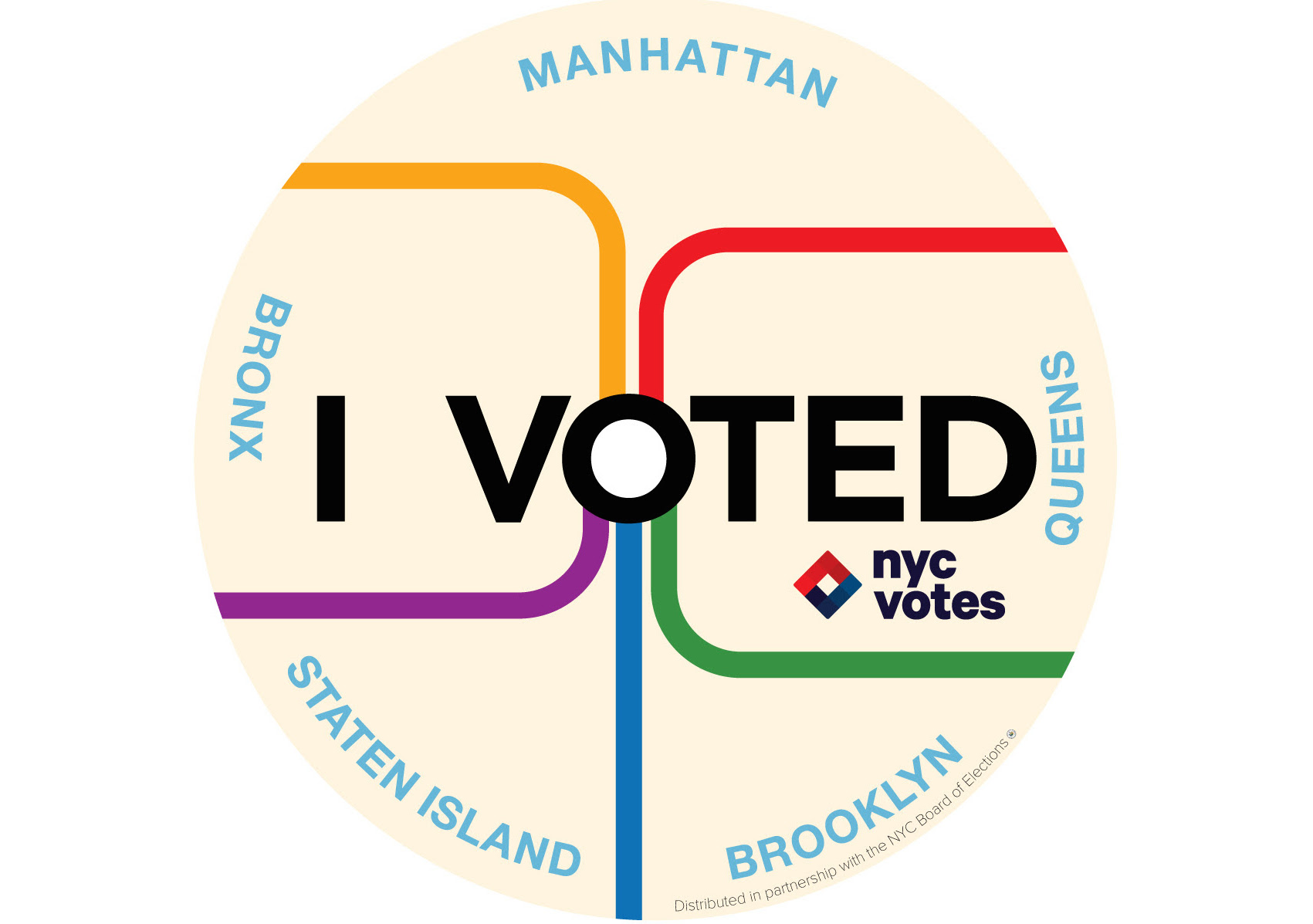 nyc votes i voted sticker