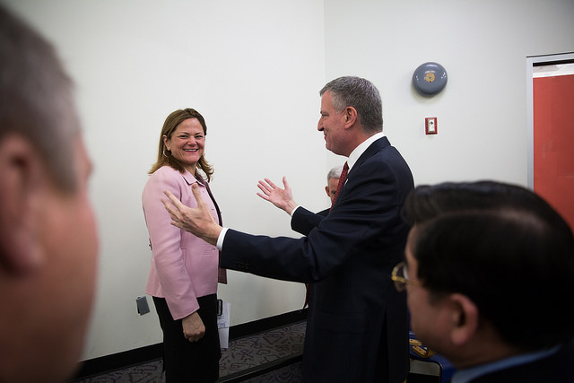 Mayor de Blasio Speaker Mark-Viverito