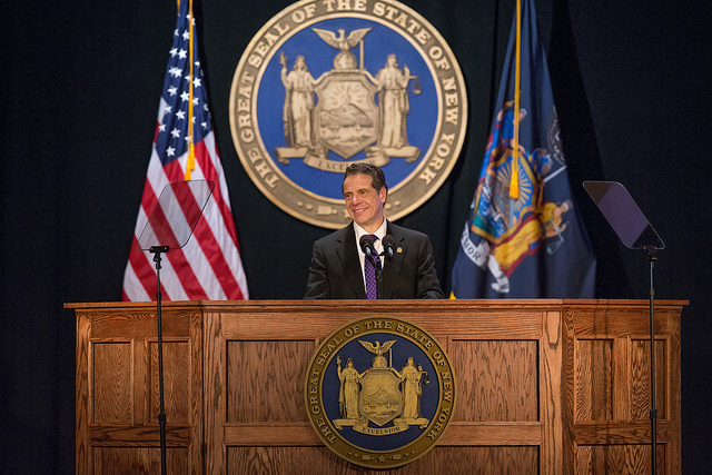 Cuomo State of the State podium