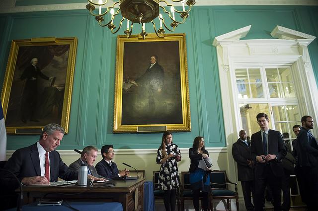 de Blasio public hearing City Council bills