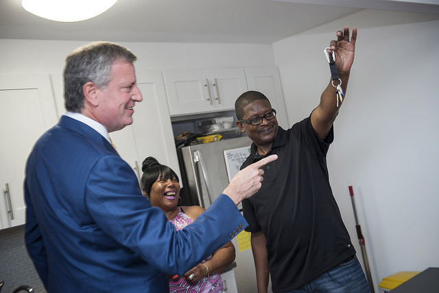 tenant apartment de Blasio affordable
