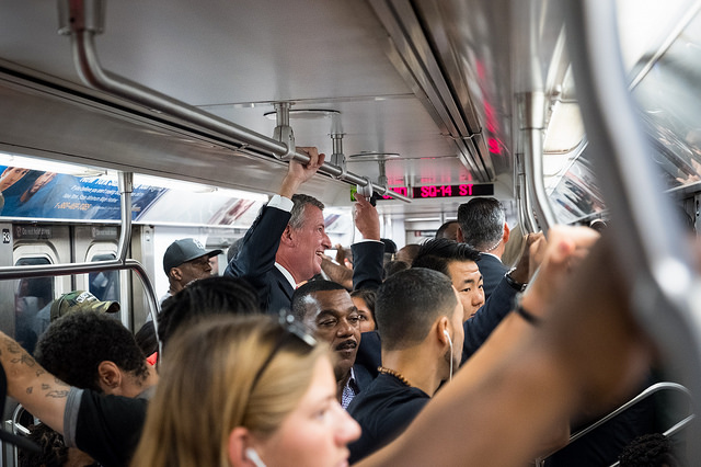 de Blasio subway