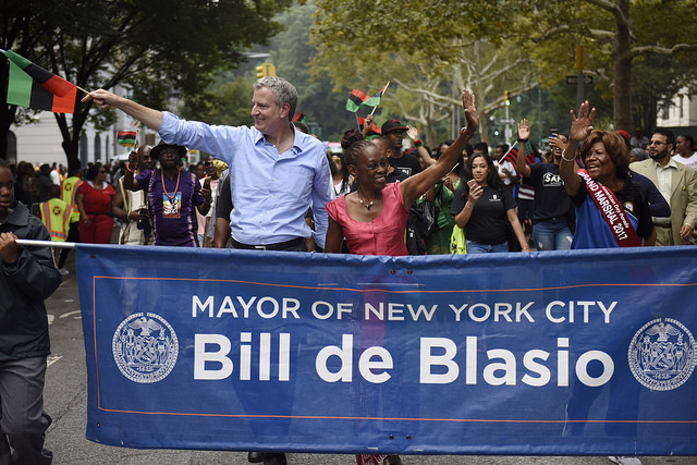 Mayor de Blasio Chirlane McCray City Hall Reelection Parade