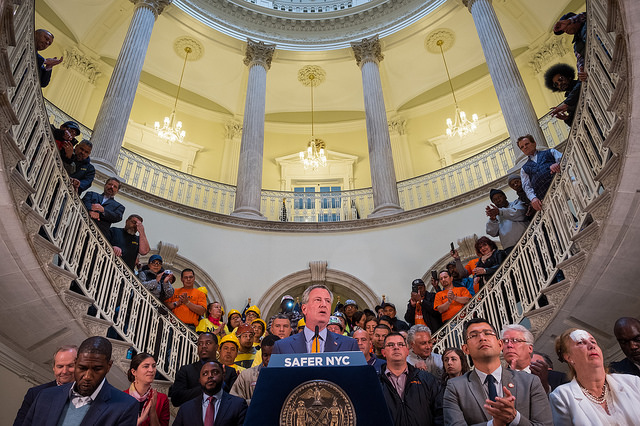 De Blasio City Hall Safer Press Conference