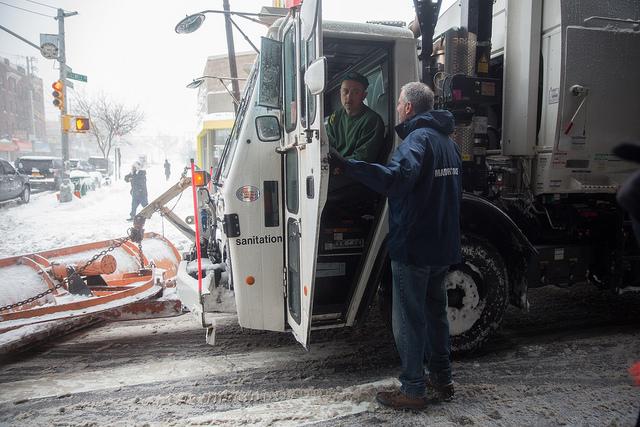 sanitation truck plow