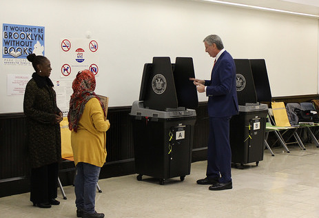 bdb at voting machine