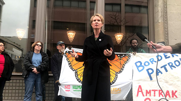 cynthia nixon gov rally event