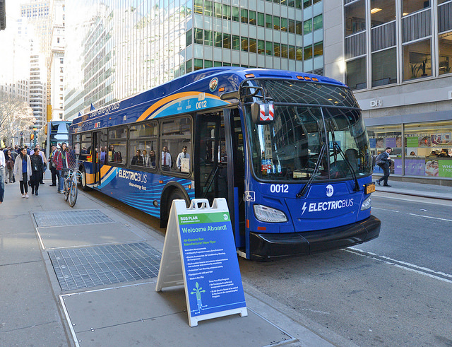 mta double decker electric bus