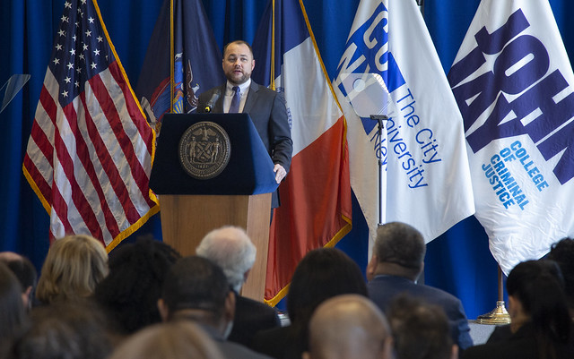Corey Johnson criminal justice speech