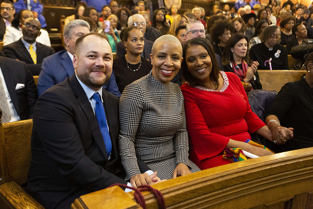 Corey Johnson Tish James