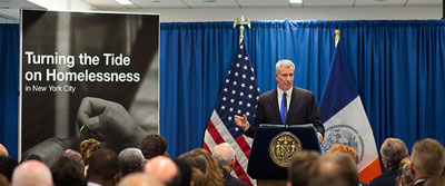 De Blasio's Progress Fighting Homelessness