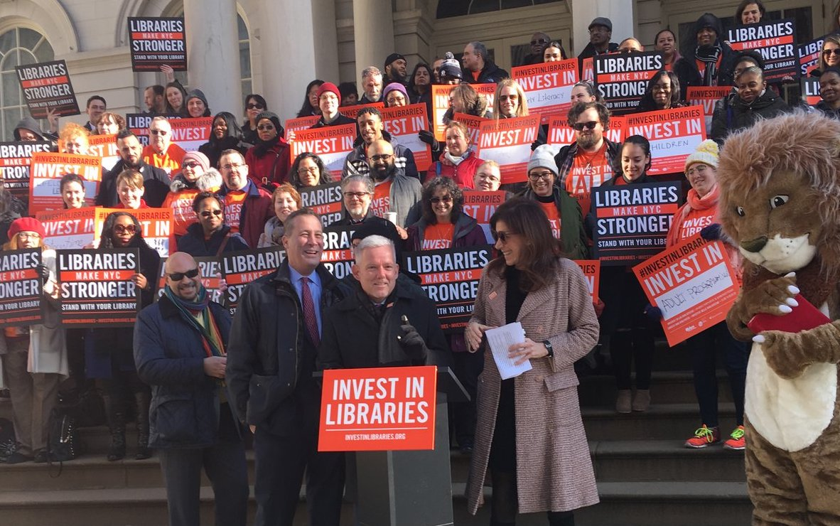 libraries rally city hall