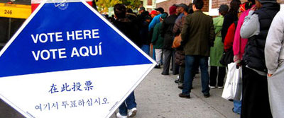 voting line in brooklyn