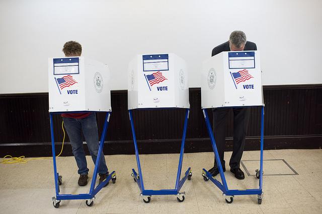 de blasio voting