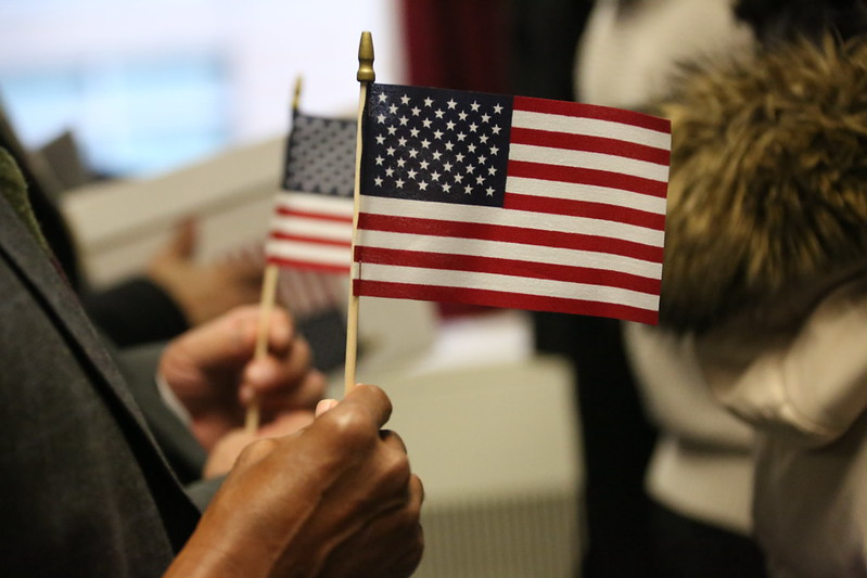 United States flags immigration citizenship