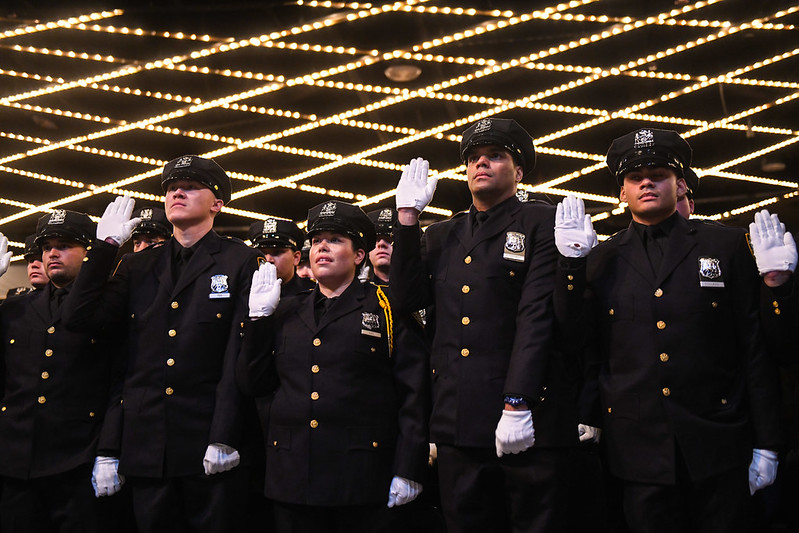 NYPD officers oath academy graduates