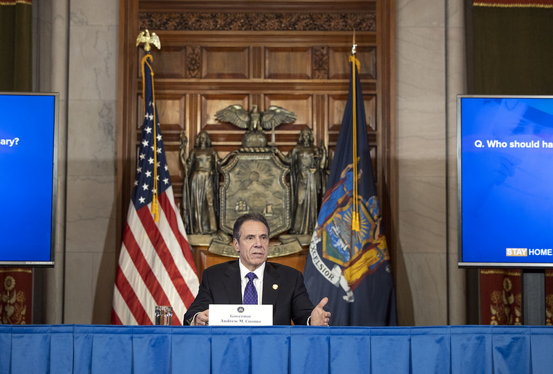Cuomo coronavirus briefing power Albany