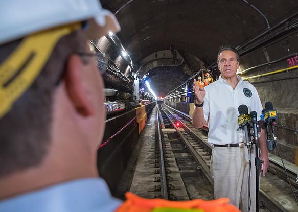 cuomo train tunnel MTA subway shutdown