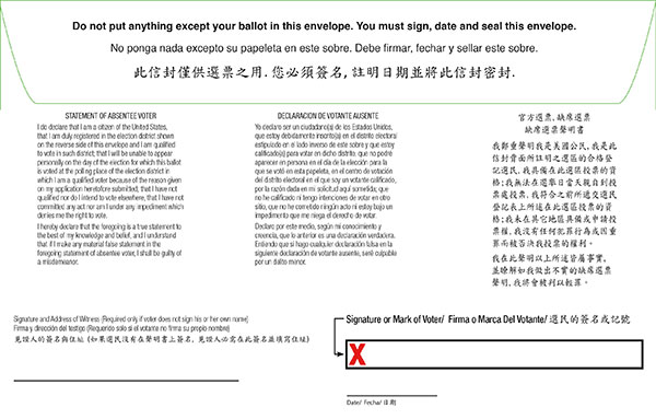 kings abs oath envelope pg2b