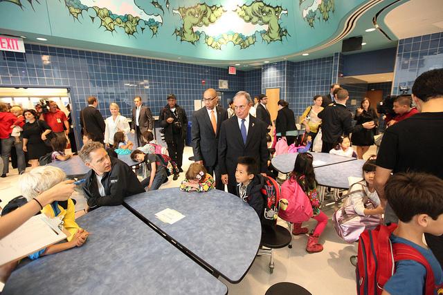 Bloomberg Walcott school visit
