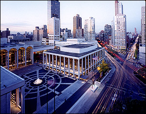 Aerial photograph of Lincoln Center