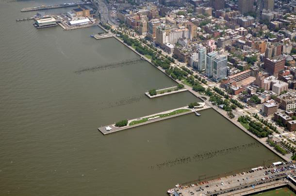 hudson river park aerial