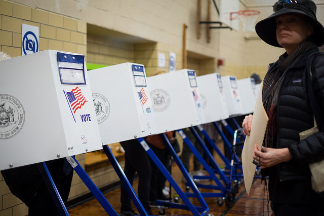 new yorkers cast their votes for president