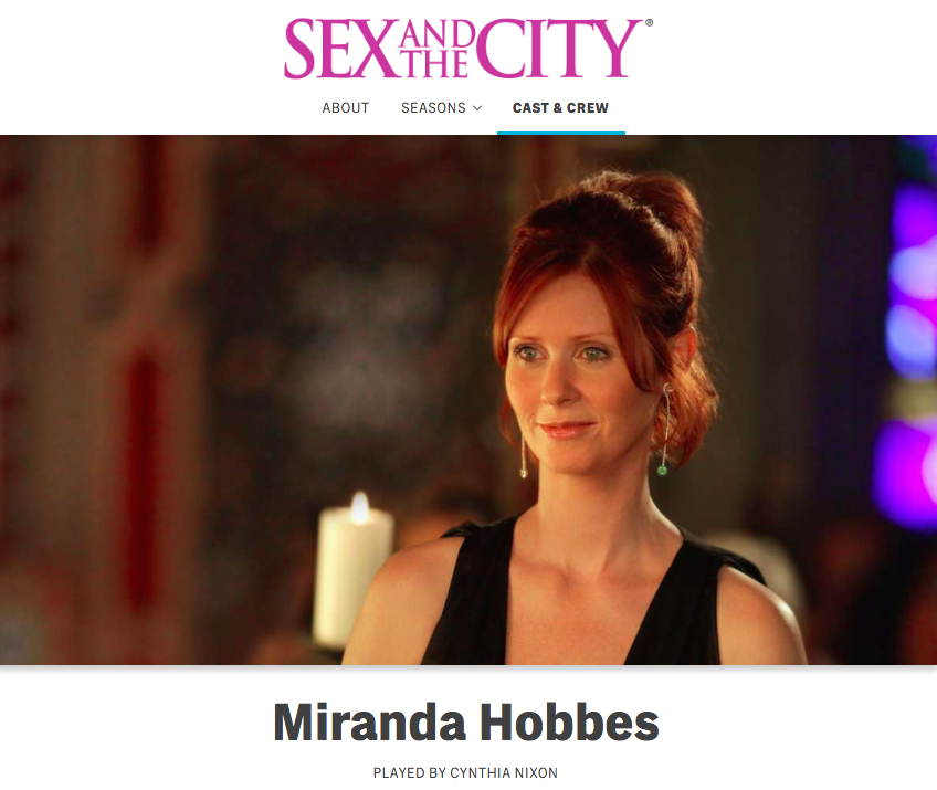 nixon hobbes sex and the city