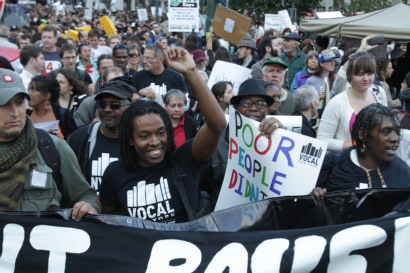 VOCAL activists at Occupy protest