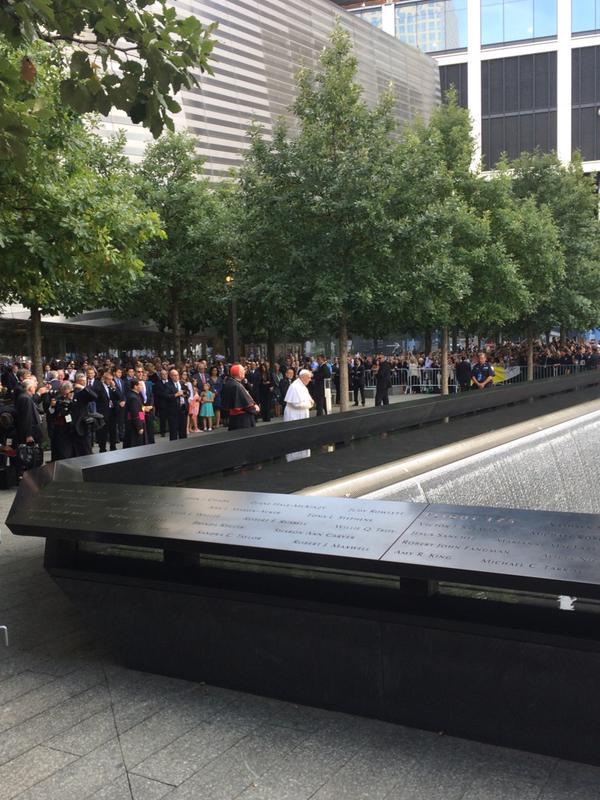 pope 911 memorial