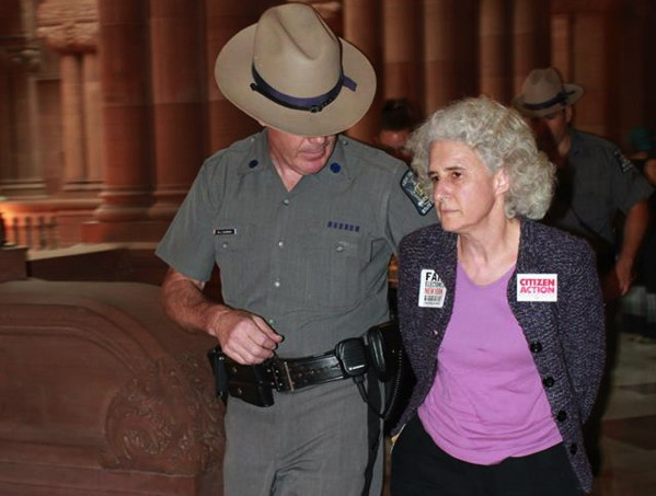 protester-arrested-albany